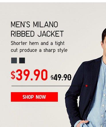 Men's Milano Ribbed Jacket