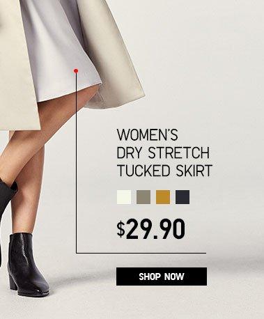 Women's Dry Stretch Tucked Skirt
