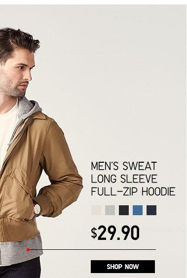 Men's Sweat Long Sleeve Full -zip Hoodie