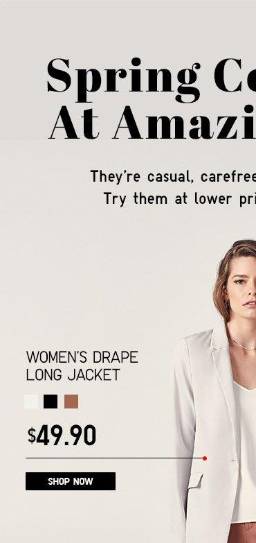 Women's Drape long Jacket