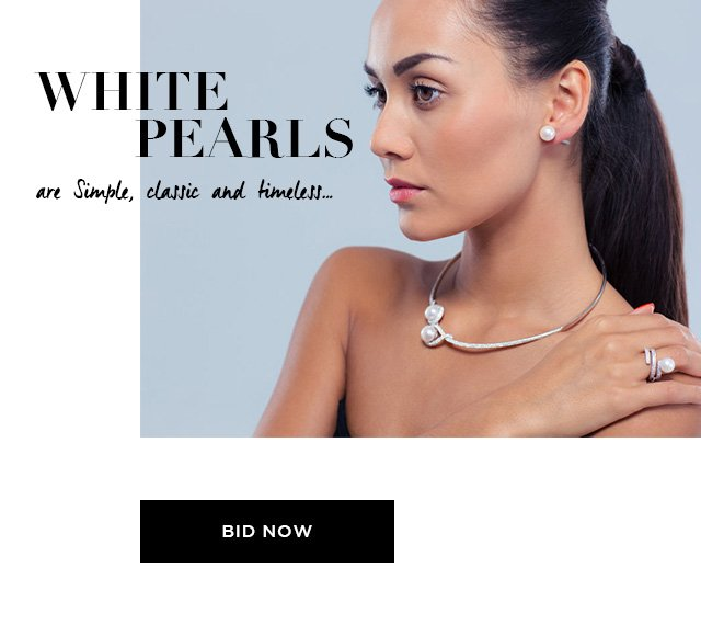 White Pearls are Simple, Classic and Timeless...