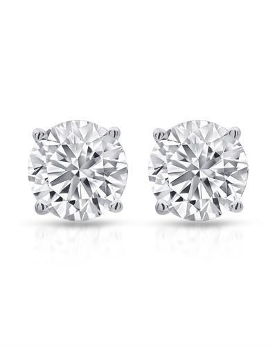 1.50ctw Diamonds 925 Sterling Silver Stud Earrings