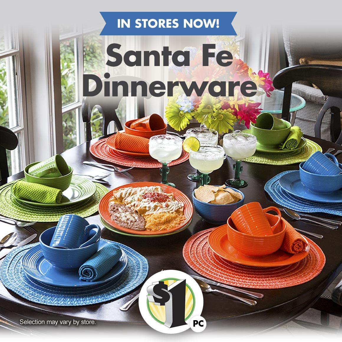 In Stores Now Santa Fe Dinnerware & Dollar Tree: Santa Fe Dinnerware is Back! | Milled