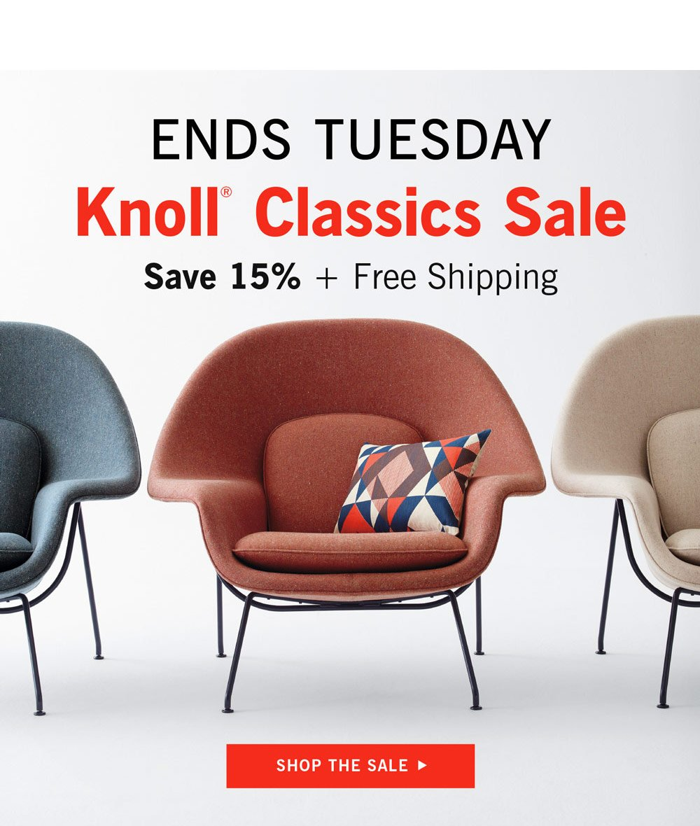 Knoll Classics Sale Ends Tuesday
