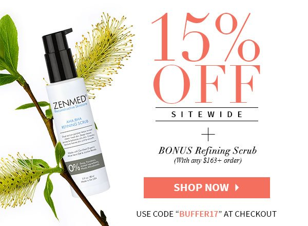 Can't Miss 15% OFF Sitewide + FREE Gift!