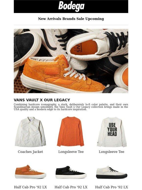 e8e9a0eaa9 Bodega  Now Available  Vans Vault x Our Legacy