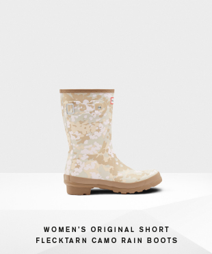 Women's Original Short Flecktarn Camo Rain Boots
