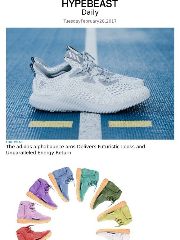 check out c322f dd15e Hypebeast  The adidas alphabounce ams Delivers Futuristic Looks and  Unparalleled Energy Return   Milled