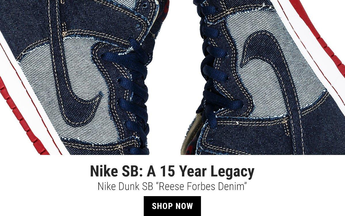 """newest 945f3 af9fd Nike Dunk SB """"Reese Forbes Denim"""""""