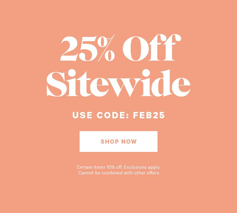 Take 25% Off Site Wide
