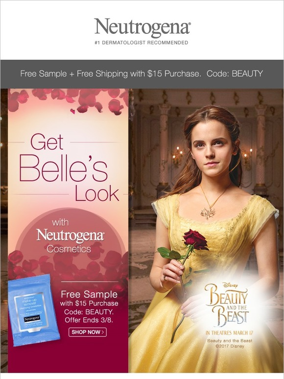 Neutrogena: Be Enchanted By Our Makeup + Free Sample with $15 Purchase | Milled