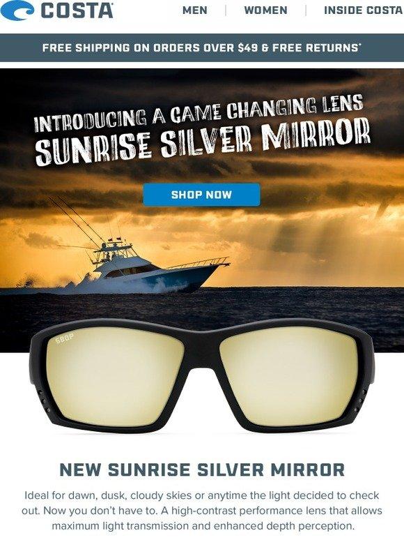 a53d390e5b0f1 Costa Sunglasses  Introducing Sunrise Silver Mirror