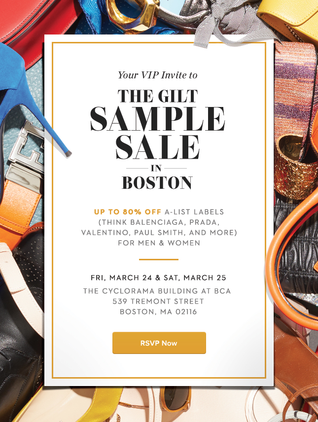 Gilt: Early Access to Tickets for The Gilt Sample Sale in Boston ...