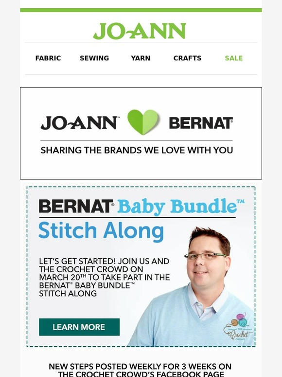 Jo-Ann Fabric and Craft Store: Crochet with Us! It's the