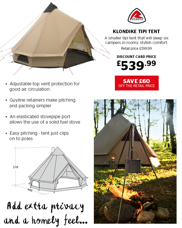 Robens Klondike Tipi Tent  sc 1 st  Milled & Go Outdoors: Glamping at a glance. New outback range of tents from ...