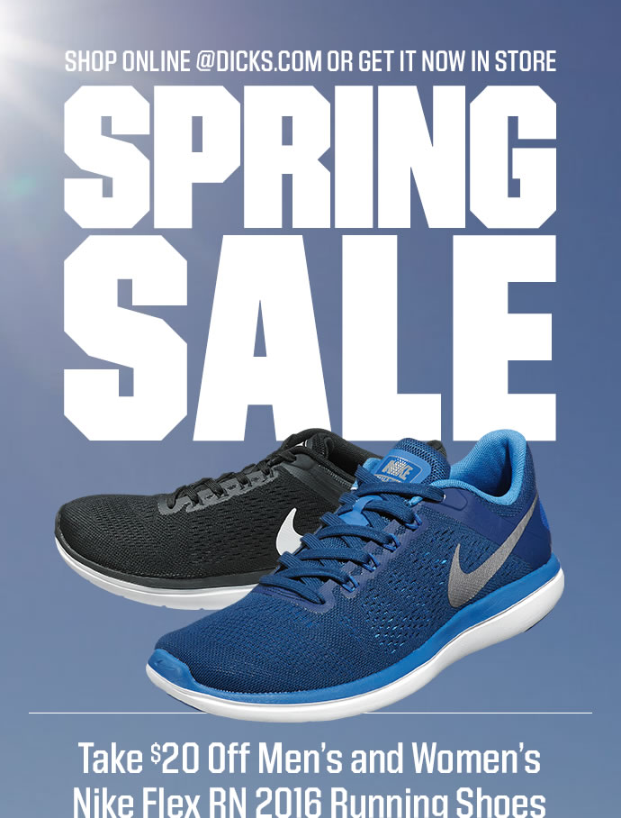 Dick's Sporting Goods: Spring Savings: 20 Off Nike Flex RN Running