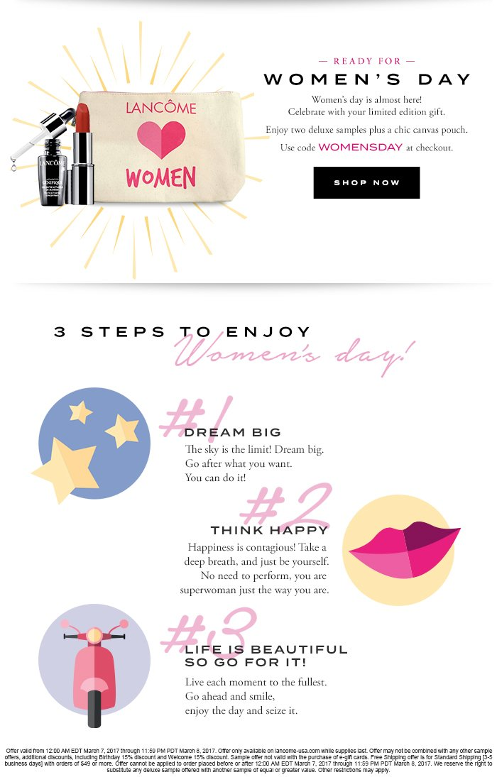 READY FOR WOMEN'S DAY - SHOP NOW