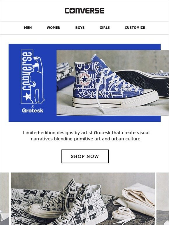 8fe392aadc67 Converse  Discover Limited Edition Designs