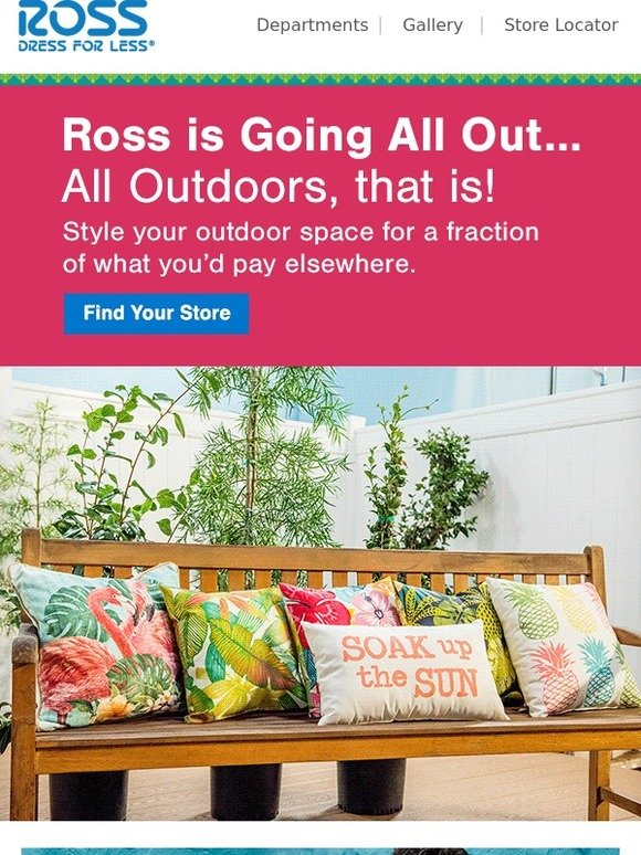 Style for less At Ross expect to find designer and brand name fashions for women, men, kids and home at everyday savings of % compared to department and specialty stores.