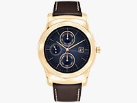Watch Urbane Luxe Smartwatch (23K Gold with Alligator Leather Band)