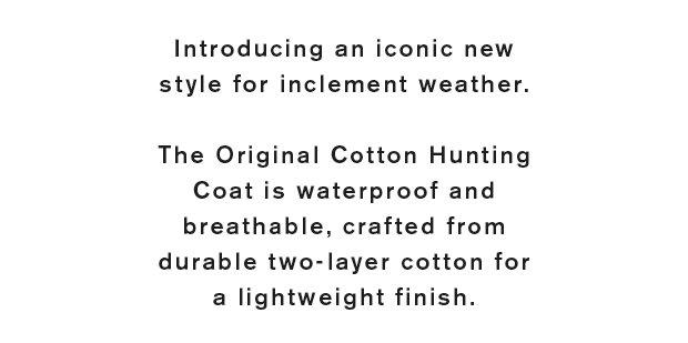 The Original Cotton Hunting Coat