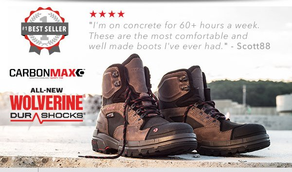 Wolverine: Our Top Selling Work Boots