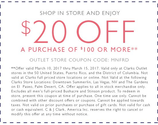 clarks outlet coupon 2019
