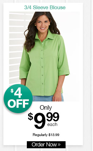 Shop Women's 3/4 Sleeve Blouse