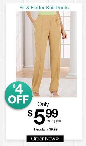 Shop Women's Sara Morgan Fit & Flatter Knit Pants