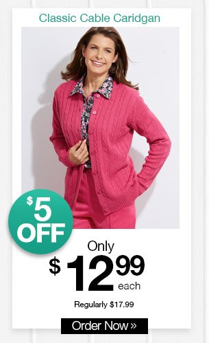 Shop Women's Classic Cable Cardigan