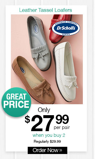 Shop Women's Dr. Scholl's Leather Tassel Loafers