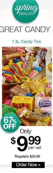 Shop 1 lb. Candy Tins