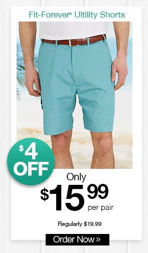 Shop Men's Fit-Forever Utility Shorts
