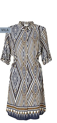 vila-geometric-long-sleeve-dress