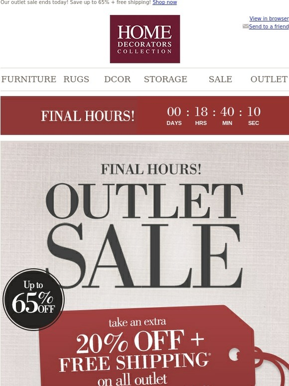 Promotional Code Home Decorators Outlet Shop Sales And