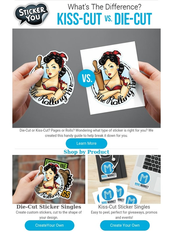 Stickeryou whats the difference kiss cut vs die cut milled