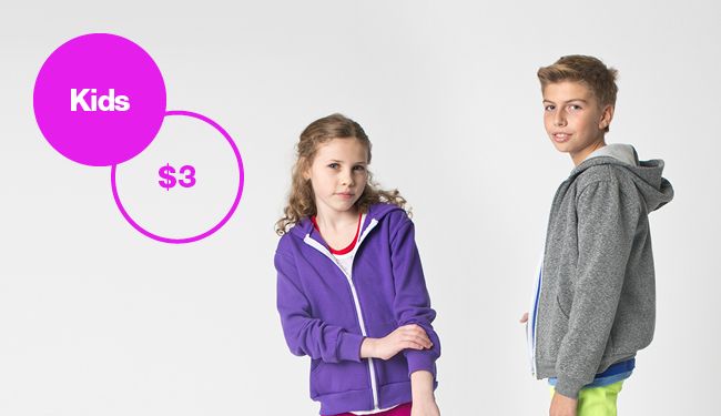 All Kids Apparel $3! Shop Now.