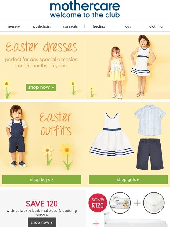 Mothercare explore our cracking easter outfits milled negle Images