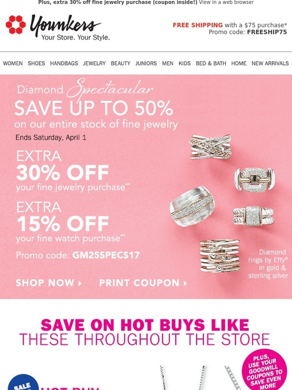 58fff40d4 Younkers: Diamond Spectacular • Save up to 50% on our Entire Stock of Fine  Jewelry | Milled