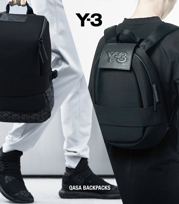 4023e9a0badd2 The Y-3 Qasa Backpacks combine futuristic design with everyday comfort and  ease