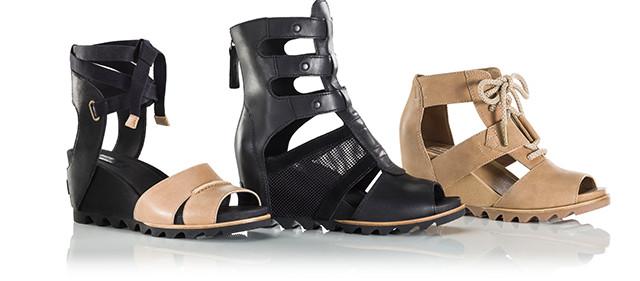 Three wedge sandals.