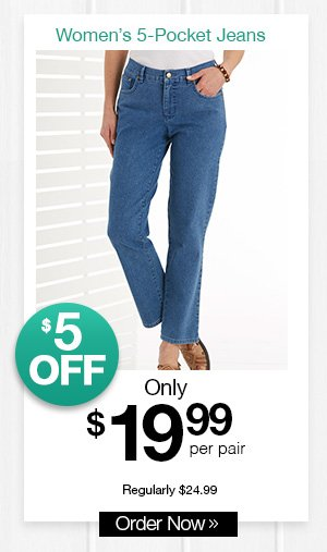 Shop Women's Classic 5-Pocket Jeans