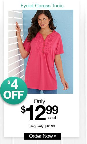 Shop Women's Eyelet Caress Tunic