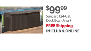 Suncast 124-gal deck box