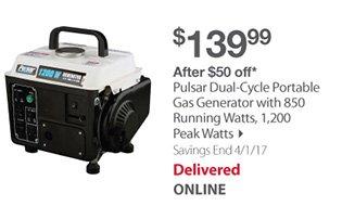 Pulsar Dual-Cycle Portable Gas Generator