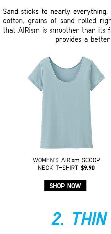 WOMEN'S AIRISM SCOOP NECK TEE