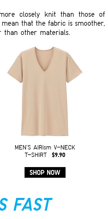 MEN'S AIRISM V NECK TEE