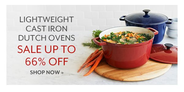 Lightweight Cast Iron Dutch Ovens - Sale up to 66% OFF