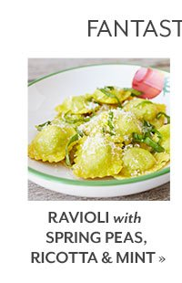 Ravioli with Spring Peas, Ricotta and Mint