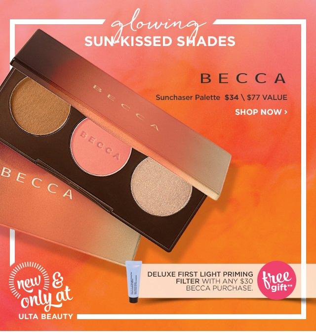 BECCA | NEW! Sunchaser Palette $34, plus Free Gift**